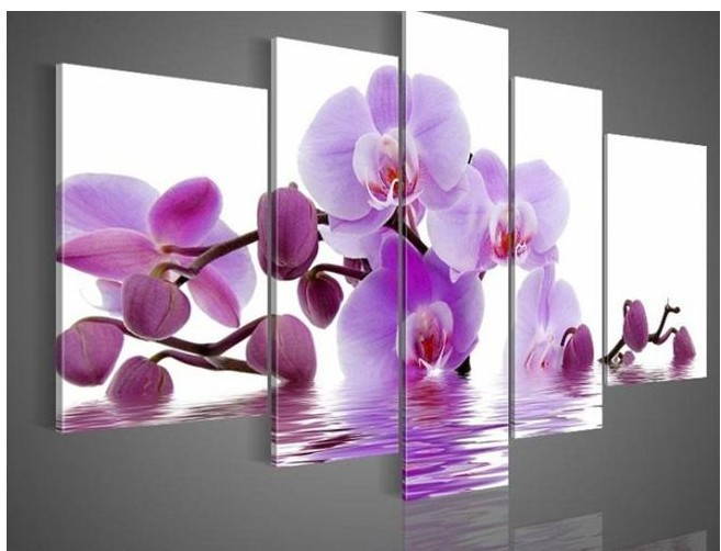 The Orchid Flower Oil Painting On Canvas Handpainted Modern Design High Quality Top Home Decoration For Nice Wall Art(China (Mainland))