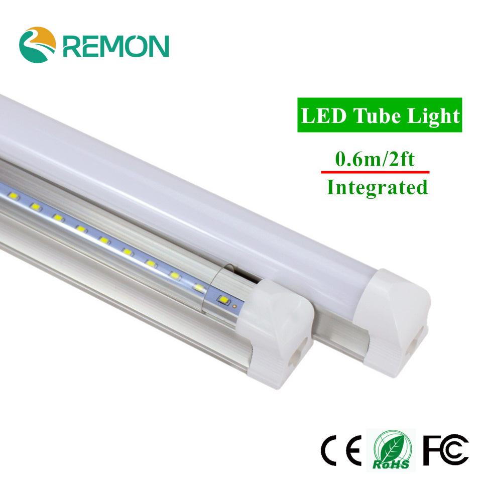 1pc/lot LED Bulbs Tubes 2ft Integrated Tube Light T8 600mm 10W Led Tubes AC85-265V G13 48pcs SMD2835 Lighting Tubes 1000lm(China (Mainland))
