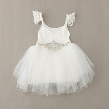 EMS DHL Free Shipping toddlers Little Girls Children's Gauze Dress tutu Party Dress Prom Stunning Dress Holiday Wedding wear(China (Mainland))