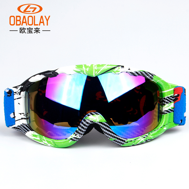 Kids Ski Goggles Snowboard Goggles Boys Girls Skiing Eyewear Glasses Windproof Anti-Fog UV400 Child Snow Google OBAOLAY Brand(China (Mainland))