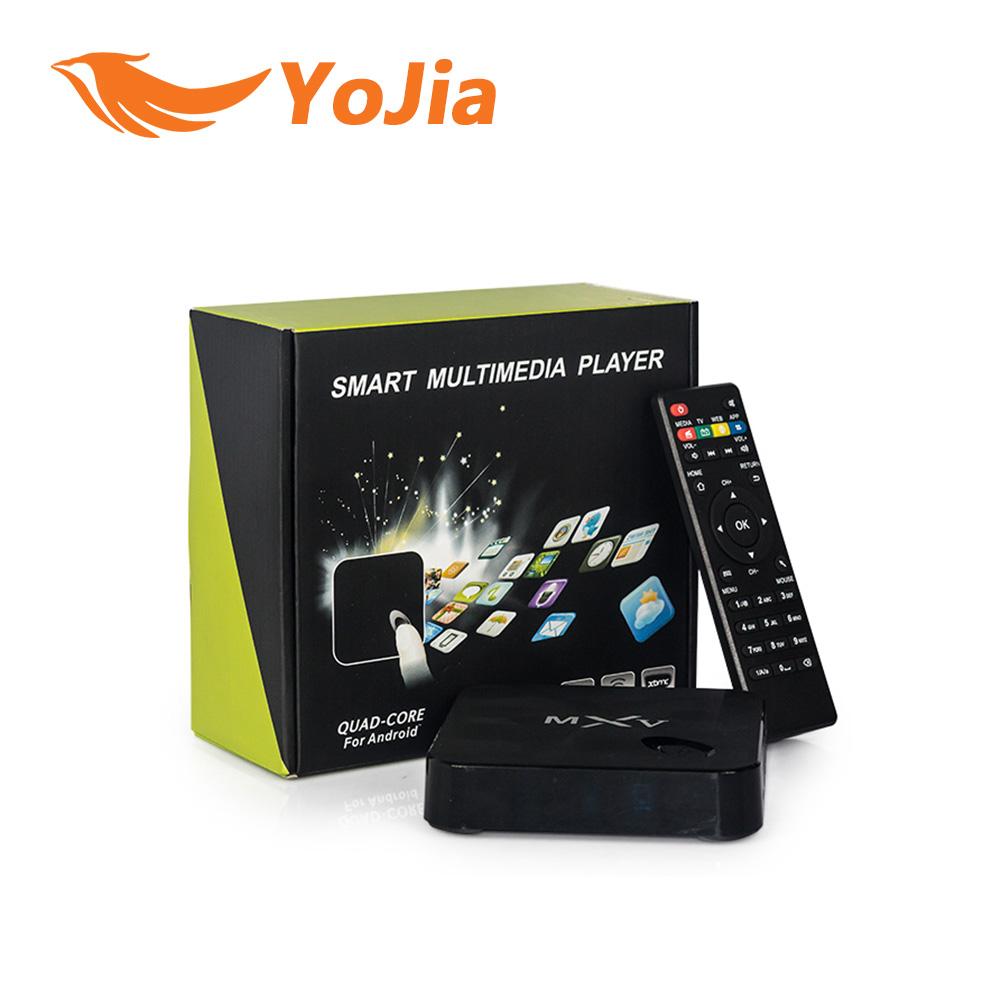 1pc Genuine MXV Quad Core Android TV BOX S805 1GB/8GB Cortex 1.5 GHZ WIFI Bluetooth H.265 HEVC Android 4.4 KODI Media Player<br><br>Aliexpress