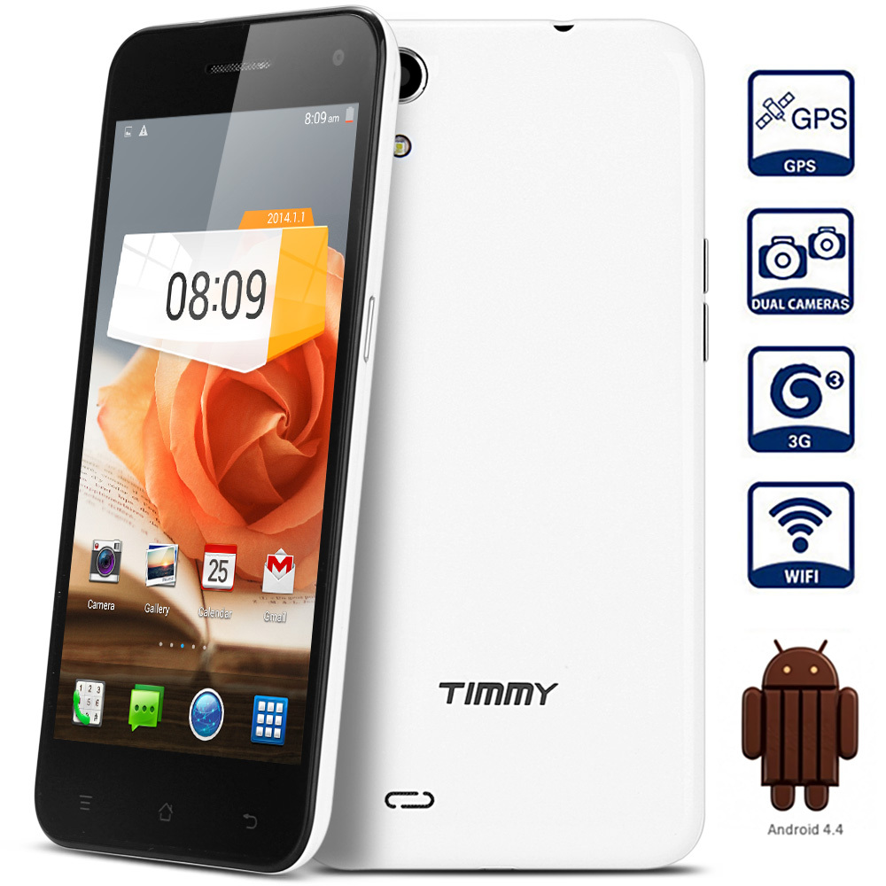 Original 5.0 inch Timmy E5 Android 4.4 3G Phablet with MTK6582 1.3GHz Quad Core 2GB RAM 4GB ROM Mobile Phone/ Cell phone(China (Mainland))