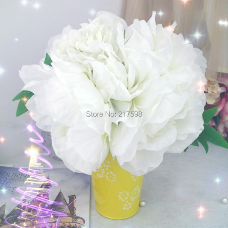 Silk Flower Decorative Peony Bouquet Holding Flower Hydrangea Wedding and Home Decorations(China (Mainland))