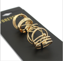 Hot Selling Fashion Wholesale High Quality Punk Style Gold Plated Women Knuckle Ring