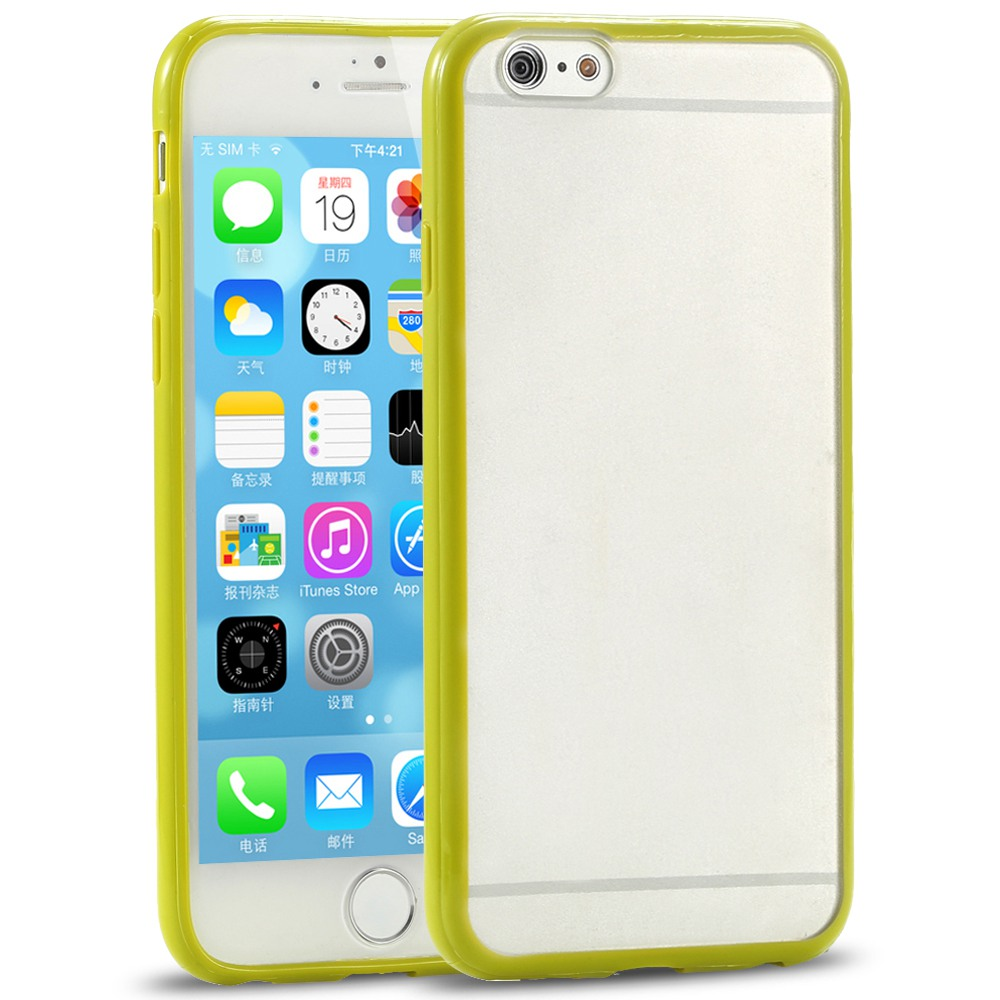 Cute Candy Ultra Thin TPU Frame Case iPhone 6 Colorful Slim Hard PC Transparent Scrub Back Cover 6s Shell Capa - FLOVEME Official Flagship Store store