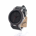 BOBO BIRD C22 Men s Ebony Wood Design Watches With Real Leather Quartz Watch for Mens