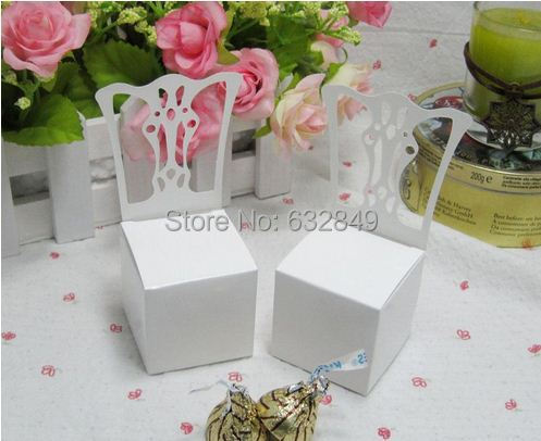 White Chair Wedding Favor Candy Boxes Party Supplies Baby Shower Gift Box,10 - Yiwu Wedding&Baby Favors store