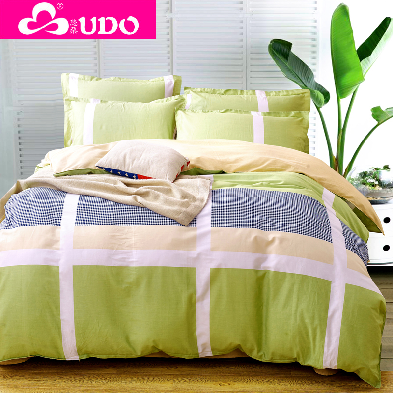 You Duo Home Textile 4pcs Bed Sheets Sets Linens Comforter Bedding Sets Double Duvet Cover Pillowcases FS002(China (Mainland))