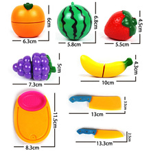 Cute 1 Set Baby Kids Gift Kitchen Food Pretend Play Toy Cutting Fruit Knife New(China (Mainland))