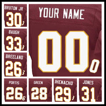 100% Stitched With Customized #3 Dustin #80 Jamison #81 Art #84 Niles #85 Vernon #86 Jordan #88 Pierre Elite Red Football Jersey(China (Mainland))