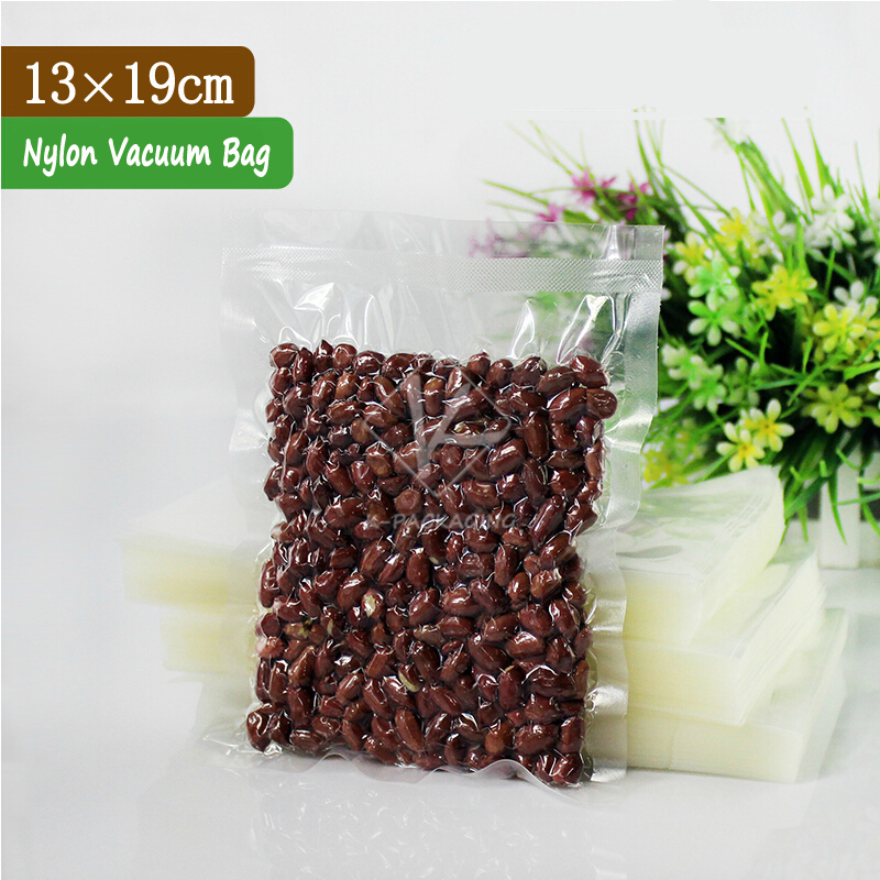 2015 Hot Sale 100 Pcs 13x19cm 0.18mm PA + PE Clear Vacuum Seal Food Bags / Vacuum Sealer Bags For Food / Vacuum Sealing Bags(China (Mainland))