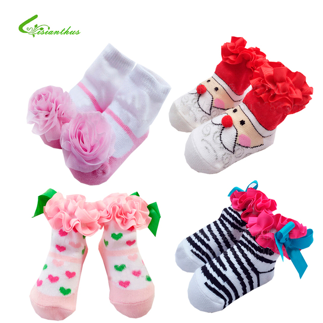 Детские носки детские носки для девочки новорожденных носки для принцессы праздничные ...