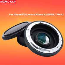 Buy Camera Lens Mount Adapter Optical Glass CANON FD Lens NIKON AI DSLR Body Mount Adapter Infinity Focus FD-AI for $29.44 in AliExpress store