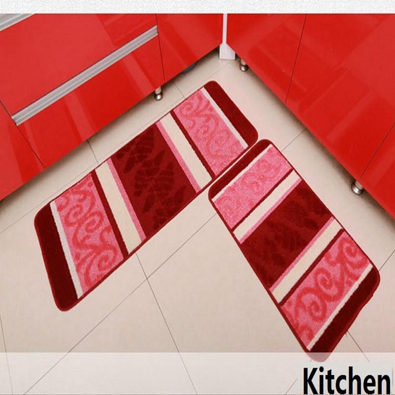 Carvapet 2 Piece Non Slip Kitchen Mat Rubber Backing Doormat Runner Rug  Set, 3D
