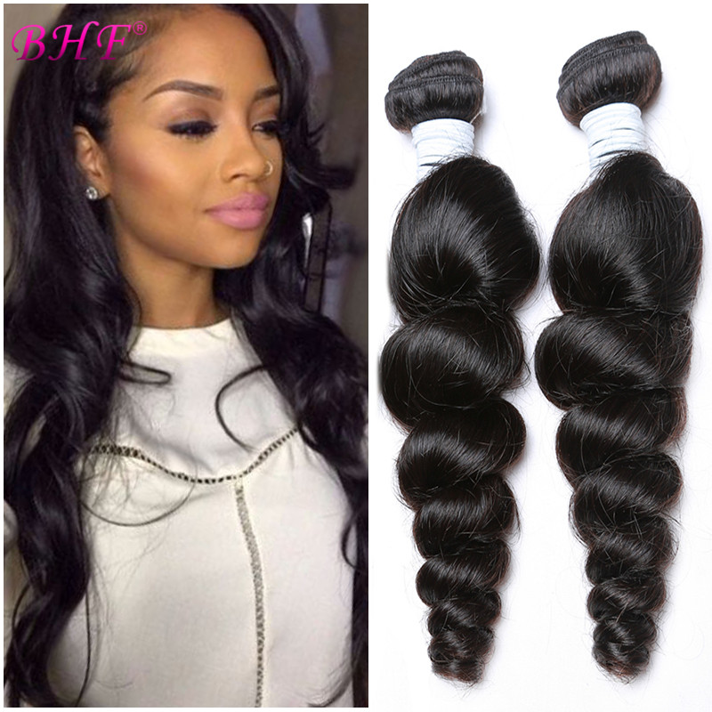 Brazilian Virgin Hair Loose Wave 3 Bundles 8A Unprocessed Brazilian Loose Wave Hair Weave Wet And Wavy Human Hair Extensions #1B