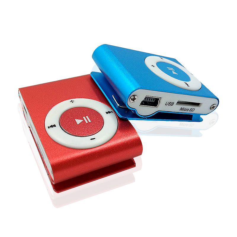 High Quality Metal MINI Clip MP3 Player With Micro TF/SD Card Slot Portable sports mini MP3 Music Player + USB Cable+2GB sd card(China (Mainland))
