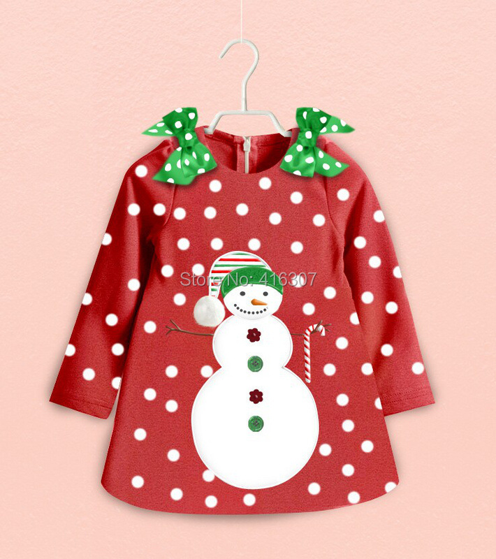 New Christmas Style Girls Sweater Red Dot Long Sleeve High Quality Velvet With Double Bow Fashionable Girs Wear For Christmas(China (Mainland))