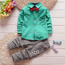 Fashion New Spring&Autumn Baby Boy Clothes Set Vest Tie Blouse+Plaid Pant Suit Kids Boys Clothing Set Children Boy Gentleman