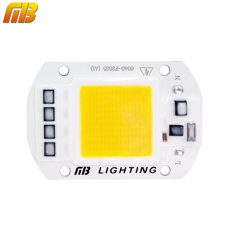 [MingBen] LED COB Bulb No Need Driver 50W 30W 20W 230V 110V Input High Lumen Chip For DIY LED Floodlight Spotlight(China (Mainland))