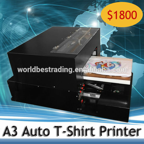 K print online selling a3 size 6 color economical flatbed for Direct print t shirt printer