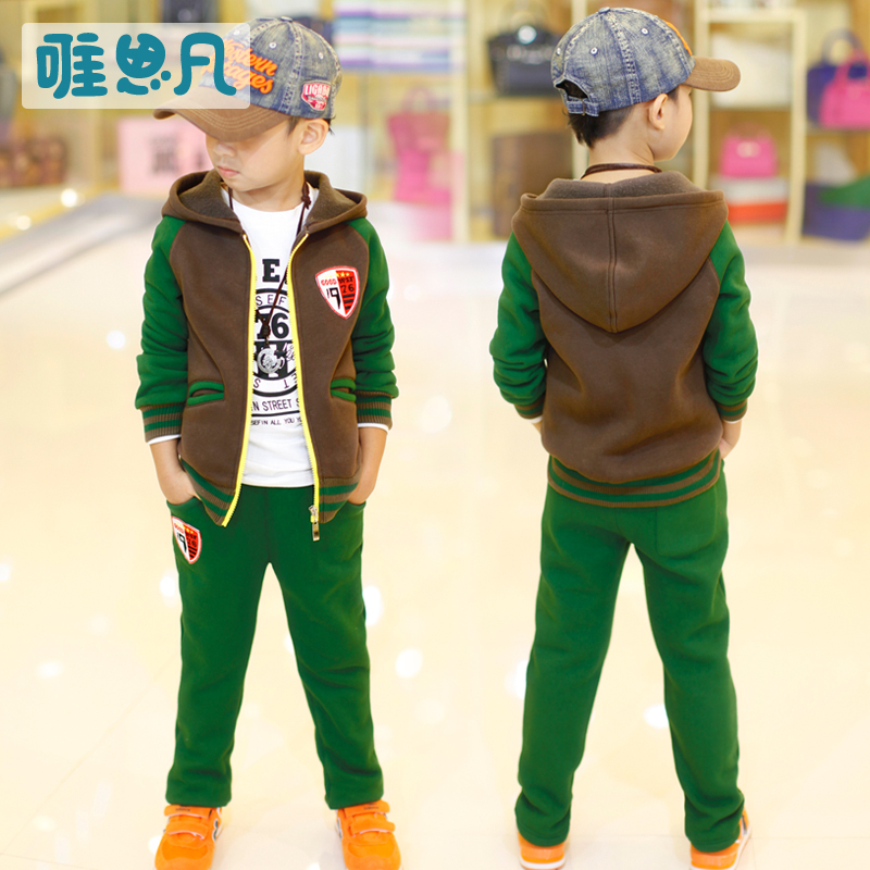 Moleton Infantil Menino 2015 New Brand Child Sweatshirt Set Sports Clothes Boy - Love Infant store