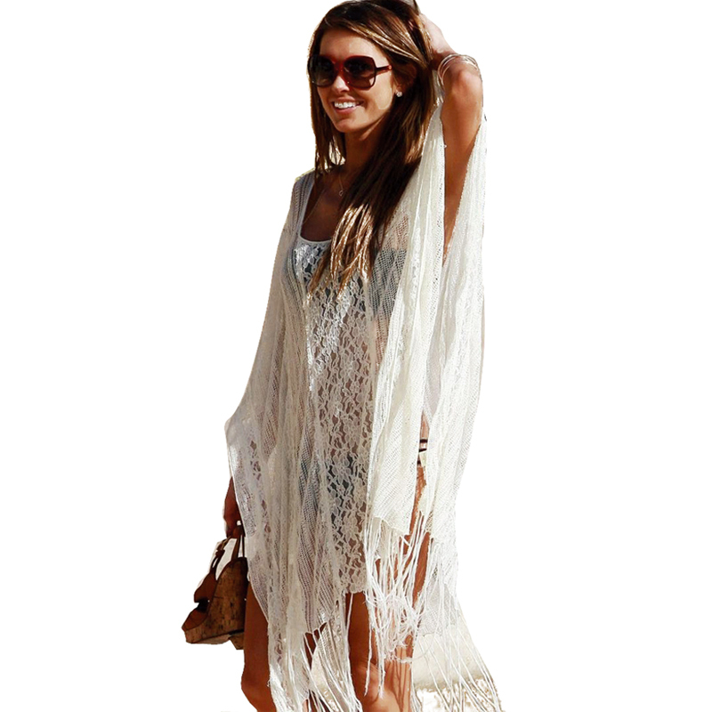 white lace womens beach cover up dresses sexy bathing suit