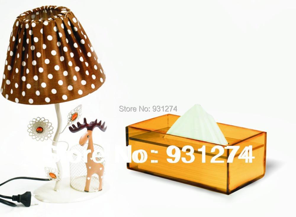 Free Shipping Brand Stylish Acrylic tissue box napkin holder Modern tissue case napkin box Luxury home kitchen bar accessories(China (Mainland))