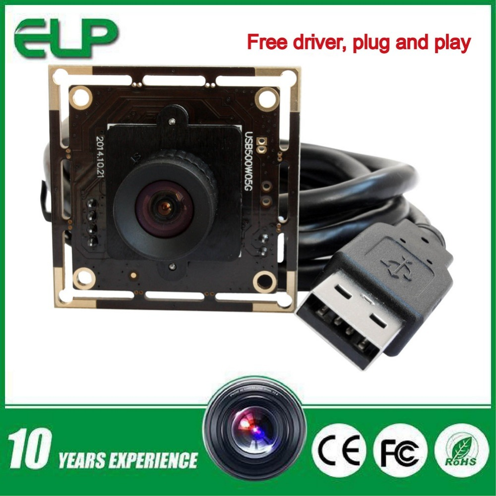 Фотография ELP 12mm lens 5MP 2592x1944 HD USB CCTV Camera high speed USB2.0 interface1/2.5inch Aptina MI5100 CMOS camera Auto exposure AEC