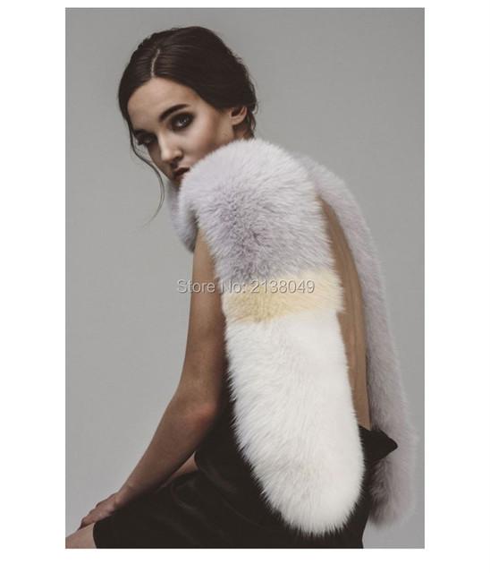FS035 150*15 см Зима женщины шарфа шерсти натурального меха фокс шарфы теплый шеи меха новый меховой Моды аксессуары