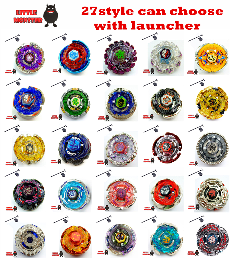 27 style can choose 1pcs Beyblade Metal Fusion 4D System Battle Top Metal Fury Masters with Launcher BB105 BB119 BB120 BB122(China (Mainland))