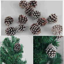 2015 Hot Selling Hot Sell Wholesale Natural 1 Pack of 9 Pine Cones Baubles Xmas Tree Decorations
