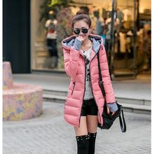 Korean style latest fashion women winter Cotton coat hooded long-sleeved medium long slim down jacket Thickening Warm Coat G1789