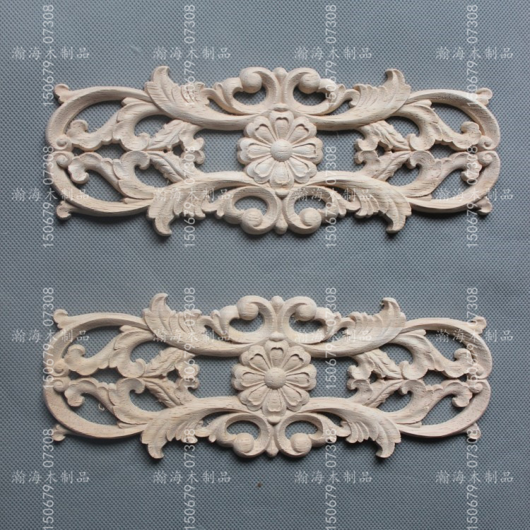 Cheap Dongyang woodcarving European decals decals home decor clothes cupboard wood doors flower accessories wholesale and retail(China (Mainland))
