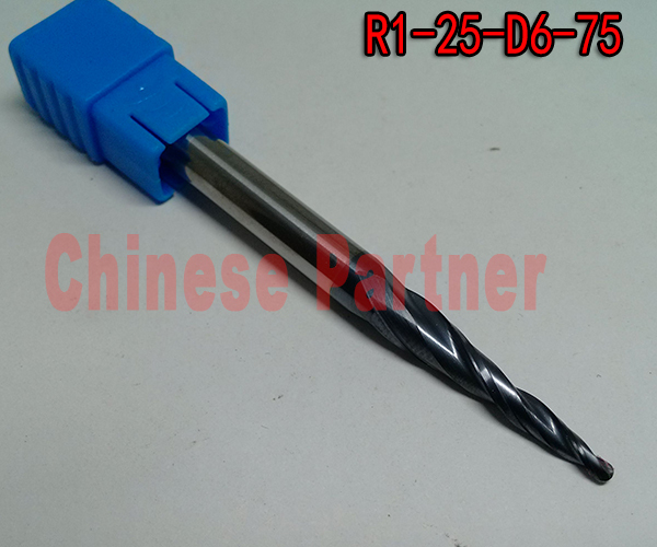 Фрезы Chinese Partner 2 R1 * D6 * 25 * 75/hrc55 CP-R1*D6*25*75-HRC55 2pcs lot r1 5 d6 30 5 75l 2f tungsten carbide ball nose cone type tapered end mills cnc milling cutter tools