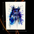 1PC Sexy Blue Ink Owl Tattoo Body Art Painting Temporary Tattoo Sticker Waterproof Arm Tatoo Sleeve