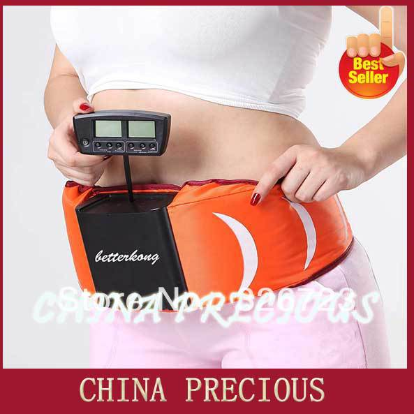 Free shipping Good Quality slimming massage belt as seen on tv ,Abdominal Belt weight loss belt with Vibration and Low Frequency(China (Mainland))