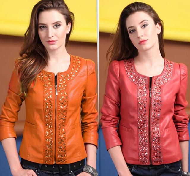 Короткий Повседневный Jackets leather Кожа PU является высокотехнологичным и высокосортным ...