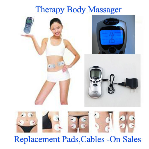 4 Electrode Health Care Tens Acupuncture Electric Therapy Massageador Machine Pulse Body Slimmming Sculptor Massager Apparatus(China (Mainland))