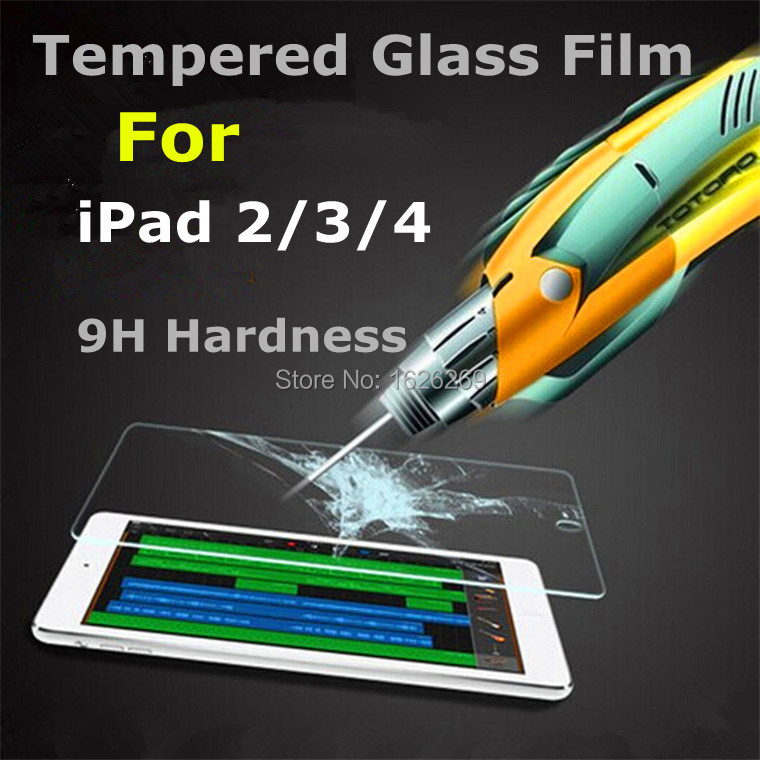2015 Brand New Anti-Explosion For iPad 2 3 4 Temper Glass Protector Film Front Pelicula High Clear Protection For iPads 2 3 4(China (Mainland))