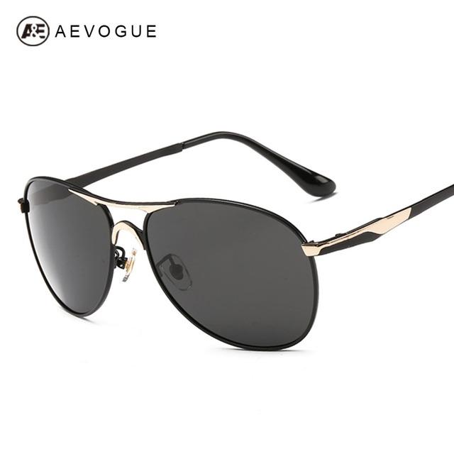 Солнцезащитные очки aEVOGUE новые поляризованные мужчины жк-поляроид проезда солнцезащитные очки дизайнер мода óculos De Sol Masculino UV400 AE0293