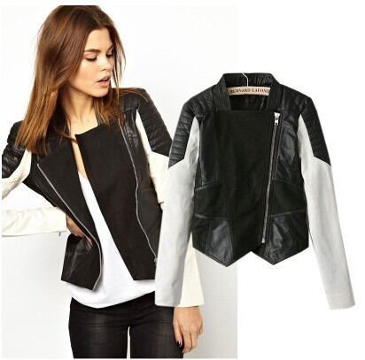 Similiar Black And White Leather Jacket For Women Keywords