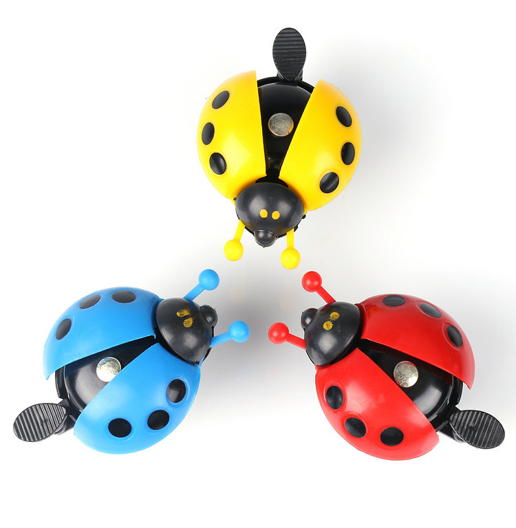 Funny Colorful Bicycle Bell Kid Ladybug Style Cycling Bicycle Bike Ride Ring Bell Horn(China (Mainland))