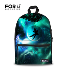 Brand Design 3D Galaxy Print Space School Backpack For Girls Teenager Backpack For Kids Casual Children Women Travel Rucksack(China (Mainland))