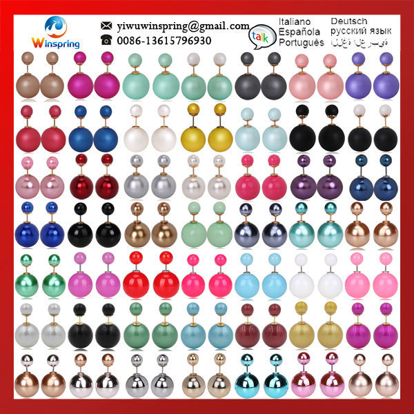Discount ~!MN_T_ITEM_TITLE_1!~.8/Pair MOQ 1Pair 150Colors Pearl Earri...