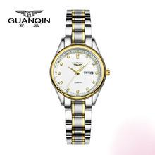 GUANQIN watch women Quartz Watch top brand luxury Steel Strap Vintage waterproof Diamond women dress watches relogio feminino