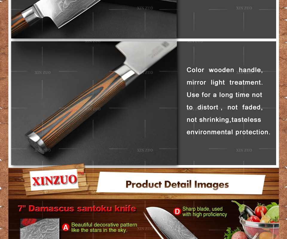 Buy 2016 NEW XINZUO 3 pcs Kitchen knives set sharp Japanese chef paring knife Damascus kitchen knife with wood handle free shipping cheap