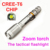 100%original Zoom 1200 lumen super bright rechargeable 18650 battery Cree XML-T6 LED Tactical Police Flashlight Military Torch