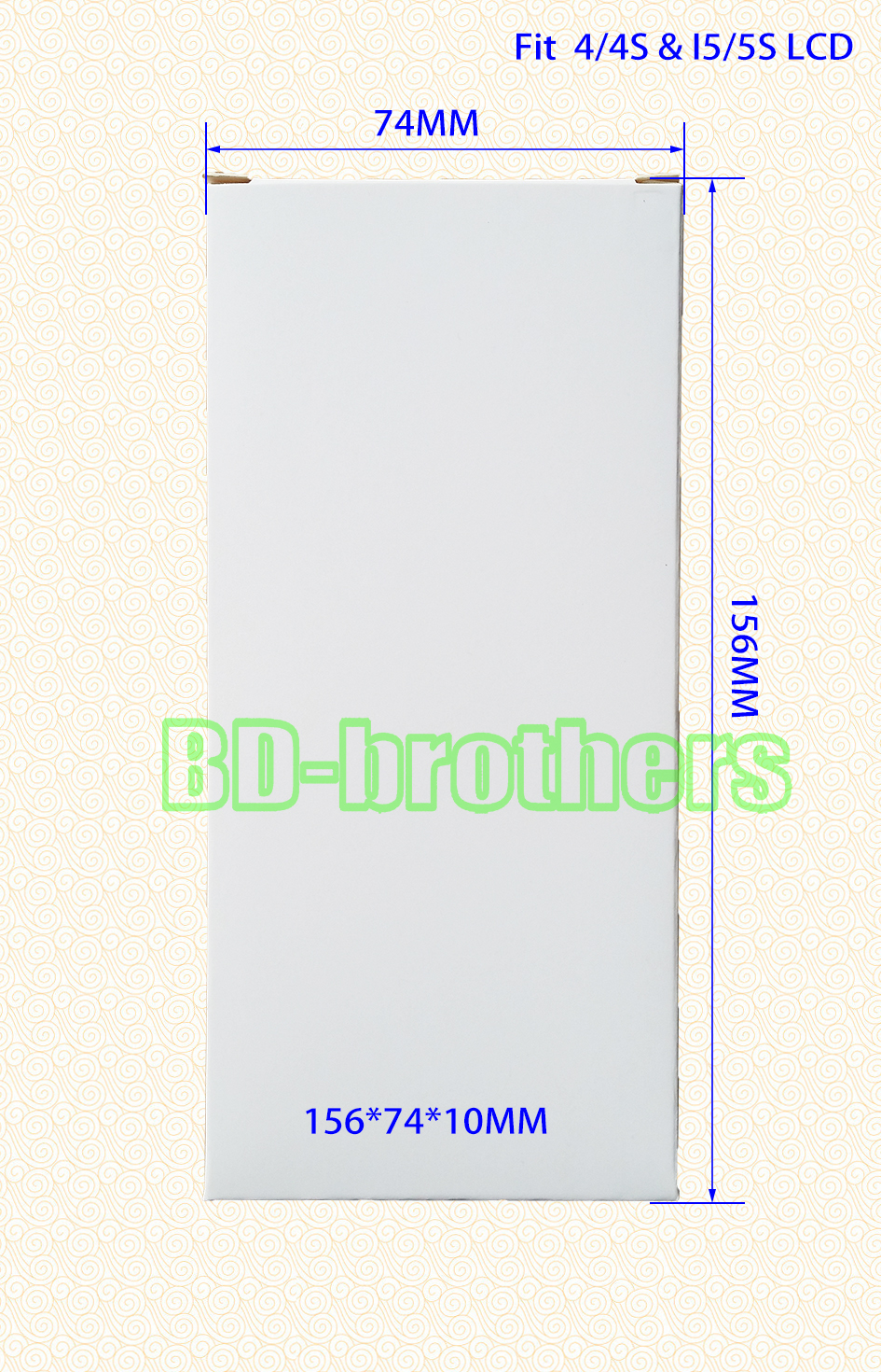 156 x 74 x 10mm Wihte Paper Box for I4/4S &amp; I5/5S LCD Screen Packing Package Wholesale 5000pcs/lot<br><br>Aliexpress