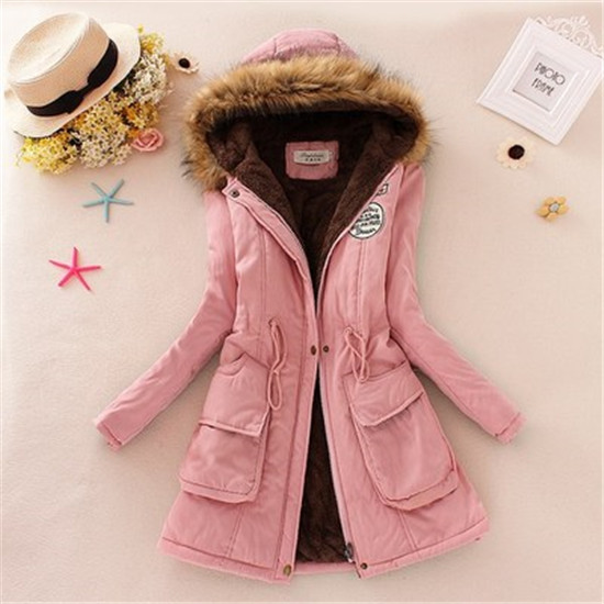2016 autumn/winter fashion new female leisure fashion hooded cotton-padded clothes / women's slim fur collar down jacket coat(China (Mainland))