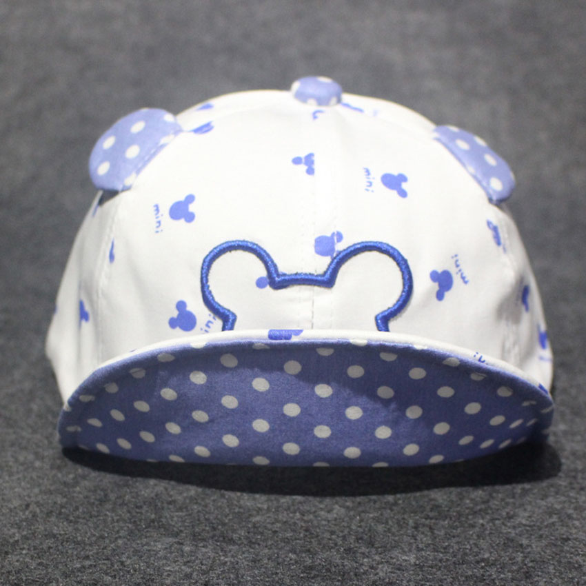 2016 new spring and summer children's hats little Mickey Mouse ears hat for men and women baby cap visor soft-brimmed hat(China (Mainland))
